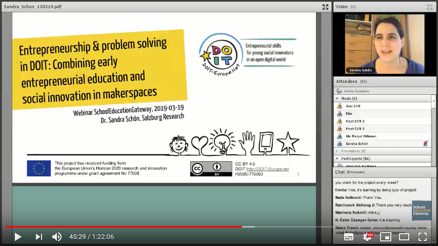 Screenshot of the webinar slide
